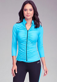 Ruched Funnel Jacket - BEBE SPORT ONLINE EXCLUSIVE at bebe