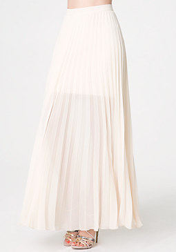 Pleated Long Skirt at bebe