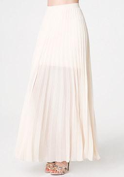 Pleated Long Skirt at bebe