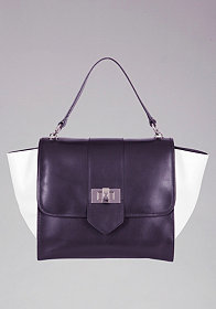 bebe Newport Leather Satchel