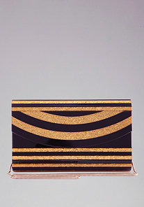 Striped Resin Clutch at bebe