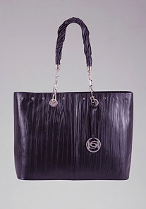 Los Feliz Leather Tote at bebe