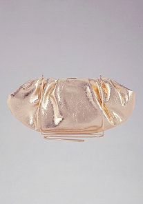 Metallic Gold Clutch at bebe