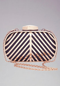 Striped Metal Frame Minaudiere at bebe