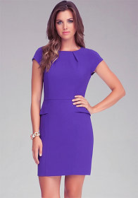 "bebe Debbie Crepe 19"" Peplum Dress"