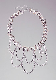Woven Chainlink Necklace at bebe