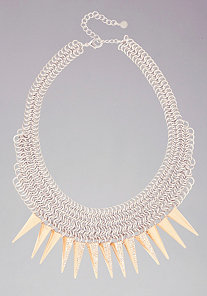 Mesh & Spike Necklace at bebe
