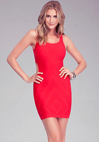 Diamond Cutout Bodycon Dress at bebe