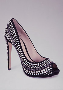 Annette Embellished Pumps at bebe