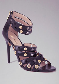 Regina Studded Leather Sandals at bebe
