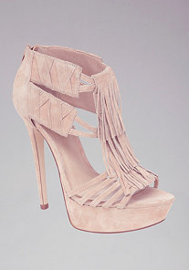 Annie Fringe Suede Sandals at bebe