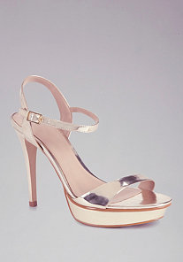 Patrice Metallic Strap Sandals at bebe