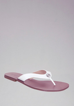 Ashlyn Logo Slide Sandals at bebe