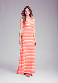 Logo Ombre Stripe Dress - ONLINE EXCLUSIVE at bebe