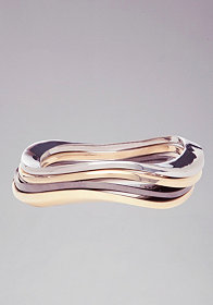 bebe Wavy Metal Bangle Set