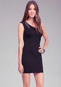 Embellished Shoulder Dress at bebe