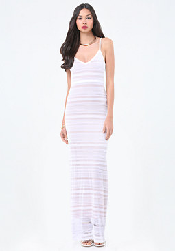 Mixed Stitch Maxi Dress at bebe