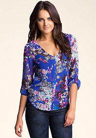 Floral Print Blouse at bebe
