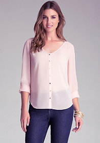 Hi-Lo Shirt Blouse at bebe