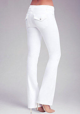 bebe Flap Pocket Bootcut Jeans