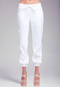 Nicola Linen Drawstring Pants at bebe