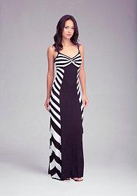 bebe Twisted Neck Maxi Dress