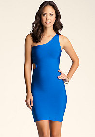 bebe Side Circle Cutout Dress