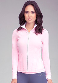 bebe Logo Funnel Jacket - BEBE SPORT ONLINE EXCLUSIVE