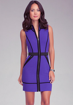 bebe Zipper Jersey Dress