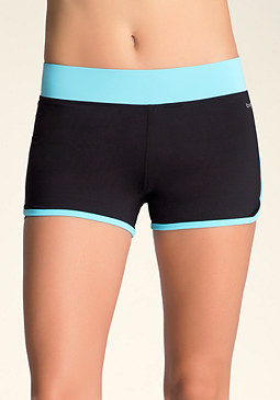 Colorblock Running Shorts at bebe