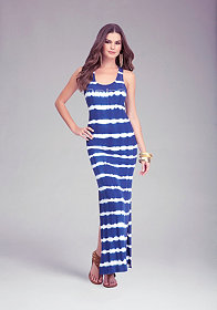 Logo Rib Tie-Dye Tank Dress - ONLINE EXCLUSIVE at bebe