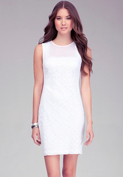 bebe Applique Lace Dress