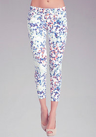 bebe Water Lilies Icon Crop Jean
