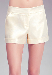 Metallic Trouser Shorts at bebe