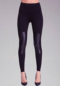 Patch Leatherette Leggings at bebe