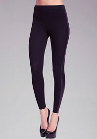 Side Stripe Leatherette Legging at bebe