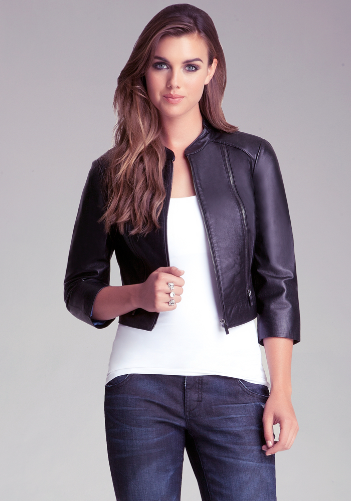 Cropped Leather Jacket | bebe