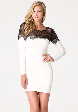 Eyelash Lace Bodycon at bebe