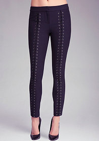 bebe Skinny Lacing Detail Pants