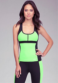Colorblock Racer Tank at bebe