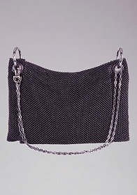 Chainmail Metal Clutch at bebe