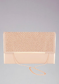 Studded Oversized Clutch at bebe