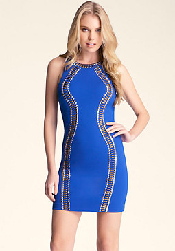 bebe Racerback Embellished Dress