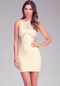 Embellished Cutout Dress at bebe
