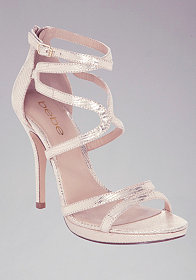bebe Ebony Strappy Evening Sandals