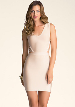 bebe Deep Strap Back Dress