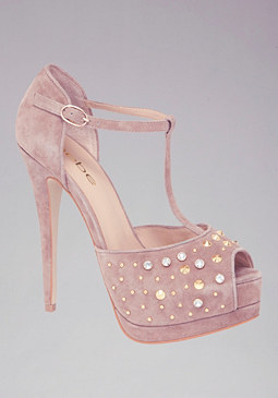 Jamie Rhinestone Pumps at bebe