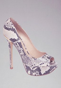 Pat Python & Metal Pumps at bebe