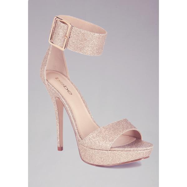 25effbebfe0 Jill Glitter Mesh Ankle Sandals - Heels
