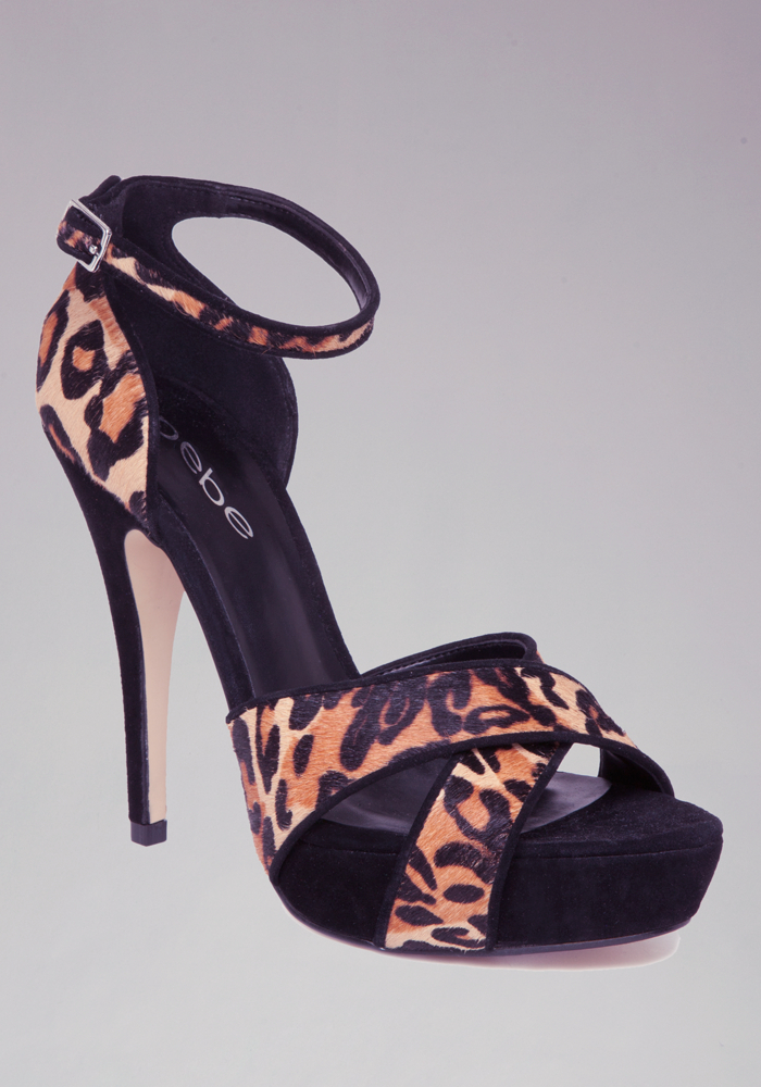 Belle Leopard Crisscross Sandals